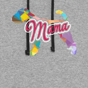 Welsh Terrier Mama Shirt - Colorblock Hoodie