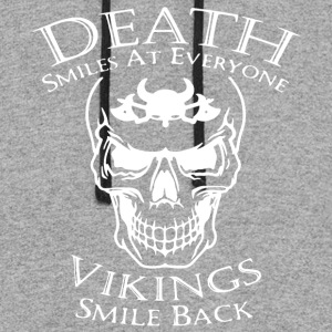 death smiles at everyone vikings smile back tee - Colorblock Hoodie