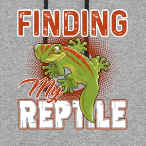 Reptile Shirt - Finding My Reptile Shirt - Colorblock Hoodie