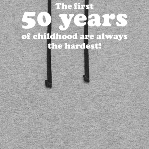 50 YEARS OF CHILDHOOD - Colorblock Hoodie