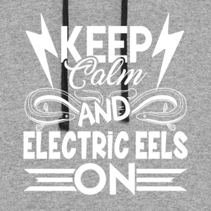 KEEP CALM AND ELECTRIC EELS ON SHIRT - Colorblock Hoodie