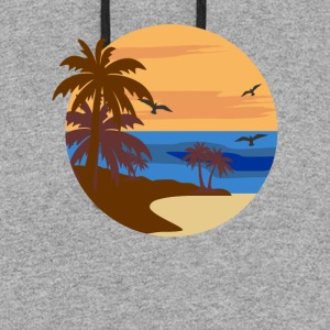 Sunset at Beach - Colorblock Hoodie
