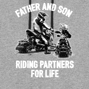 FATHER AND SON RIDING PARTNERS FOR LIFE SHIRT - Colorblock Hoodie