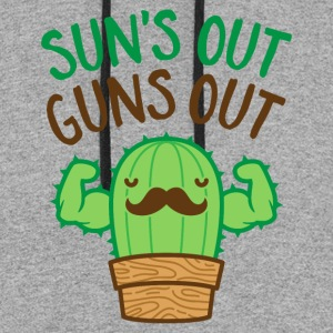 Sun's Out Guns Out Macho Cactus - Colorblock Hoodie