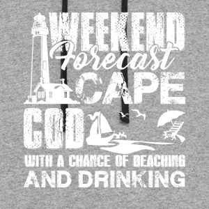 Cape Cod Weekend Forecast Shirts - Colorblock Hoodie