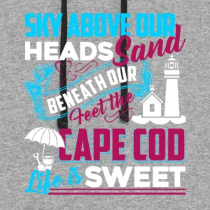 Cape Cod Life Is Sweet Shirts - Colorblock Hoodie