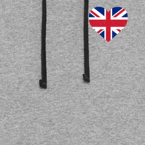 UK Flag Shirt Heart - Brittish Shirt - Colorblock Hoodie