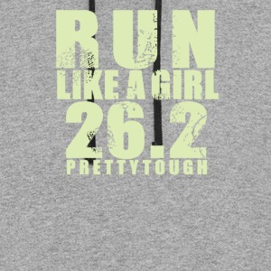 Run like a girl 26 - Colorblock Hoodie
