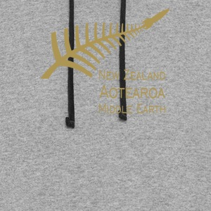 New Zealand aotearoa middle earth - Colorblock Hoodie