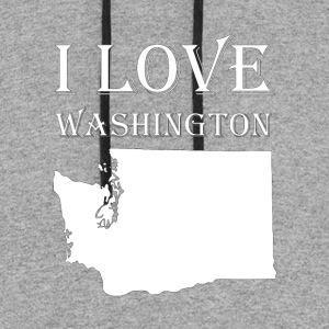 I LOVE WASHINGTON - Colorblock Hoodie