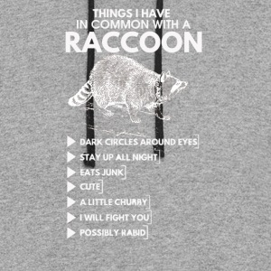 Things I Have In Common With A Raccoon - Colorblock Hoodie