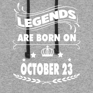 Legends are born on October 23 - Colorblock Hoodie