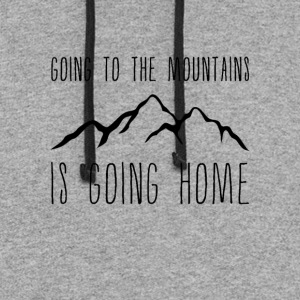 Going to the Mountains is Going Home - Colorblock Hoodie