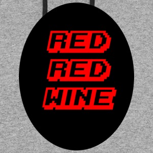 red red wine - Colorblock Hoodie