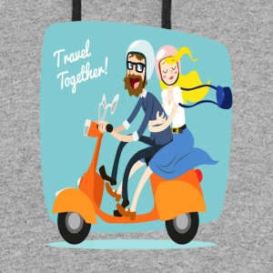 travel together - Colorblock Hoodie