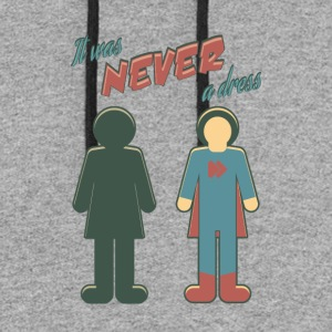 It Was Never A Dress - Wonder Super Girl Woman - Colorblock Hoodie