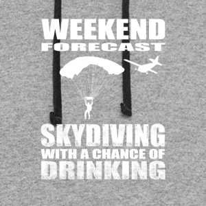 Sky Diving with a chance of drinking - Colorblock Hoodie