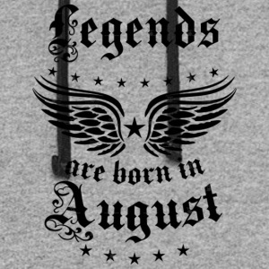 Legends are born in August birthday Vintage Stars - Colorblock Hoodie
