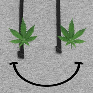 Ganja Smiley Face - Colorblock Hoodie