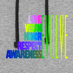 LOVE VEGAN HONOR RESPECT AWARENESS - Colorblock Hoodie
