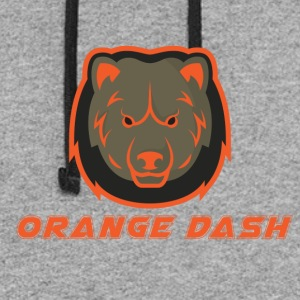 Logo Orange Dash - Colorblock Hoodie