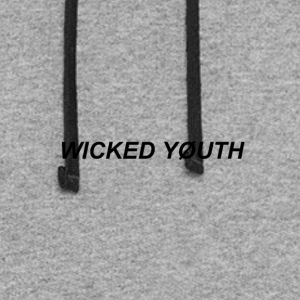 Wicked Youth Black Deisgh - Colorblock Hoodie