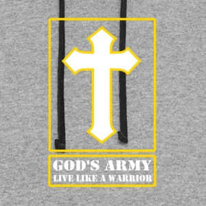 God's Army Live Like A Warrior - Colorblock Hoodie