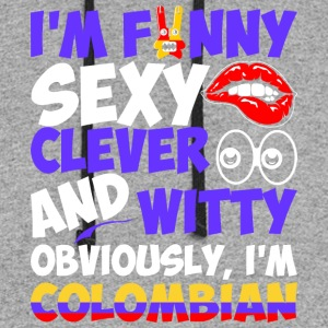 Im Funny Sexy Clever And Witty Im Colombian - Colorblock Hoodie