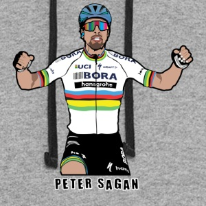 Peter Sagan Portrait, World Champion - Colorblock Hoodie