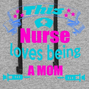 this nurse loves being a mom - Colorblock Hoodie