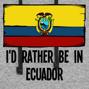 I'd Rather Be In Ecuador - Colorblock Hoodie