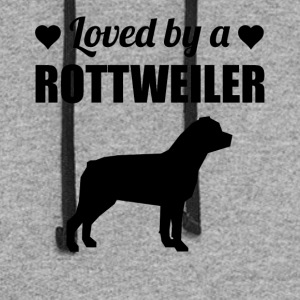 Loved By A Rottweiler - Colorblock Hoodie
