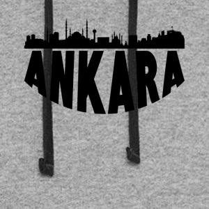 Ankara Turkey Cityscape Skyline - Colorblock Hoodie