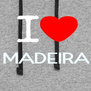 I LOVE MADEIRA - Colorblock Hoodie