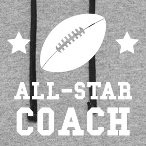 All Star Football Coach - Colorblock Hoodie