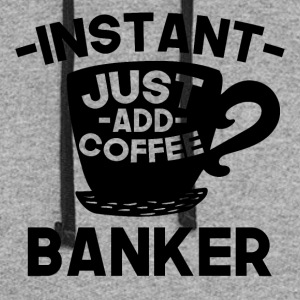 Instant Banker Just Add Coffee - Colorblock Hoodie