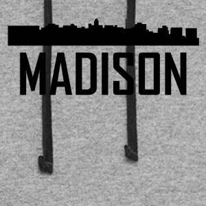 Madison Wisconsin City Skyline - Colorblock Hoodie