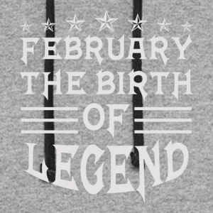 February The Birth of Legend - Colorblock Hoodie