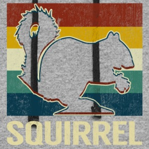 Vintage Style Squirrel Silhouette Retro Classic - Colorblock Hoodie