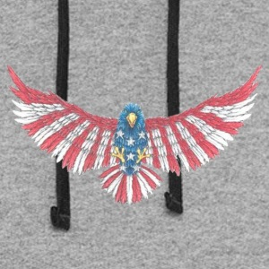 Fly America, Fly Eagle Flag - Colorblock Hoodie
