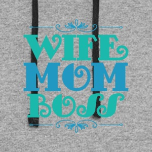 Wife Boss - Colorblock Hoodie