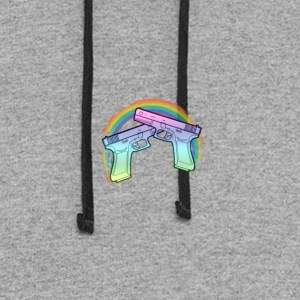 Rainbow guns - Colorblock Hoodie