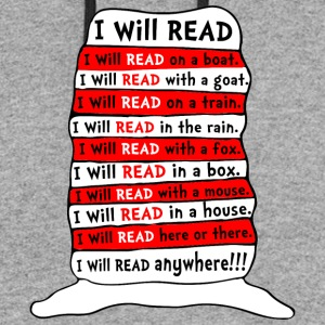 I WILL READ ANYWHERE KIDS - Colorblock Hoodie