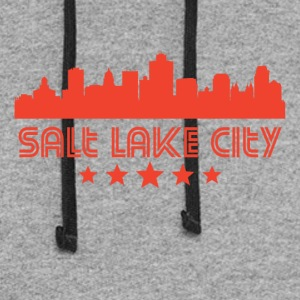 Retro Salt Lake City Skyline - Colorblock Hoodie