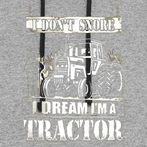 I DREAM I'M A TRACTOR - Colorblock Hoodie