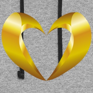 valentines-day-heart-jewelry - Colorblock Hoodie