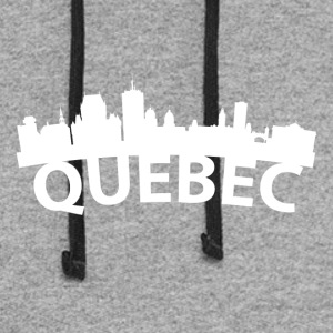 Arc Skyline Of Quebec City Canada - Colorblock Hoodie