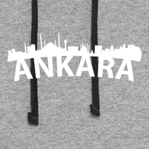 Arc Skyline Of Ankara Turkey - Colorblock Hoodie