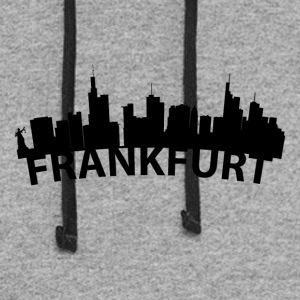 Arc Skyline Of Frankfurt Germany - Colorblock Hoodie