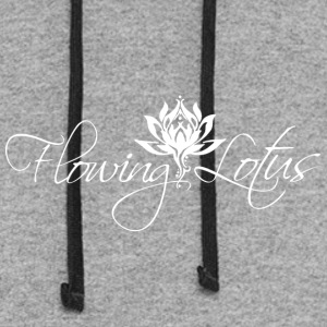 Flowing Lotus Yoga Logo - Colorblock Hoodie